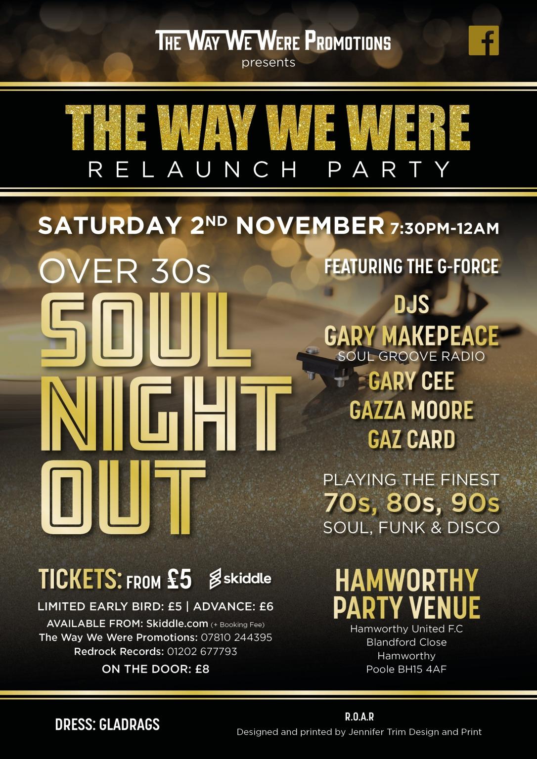 hamworthy soul night poster